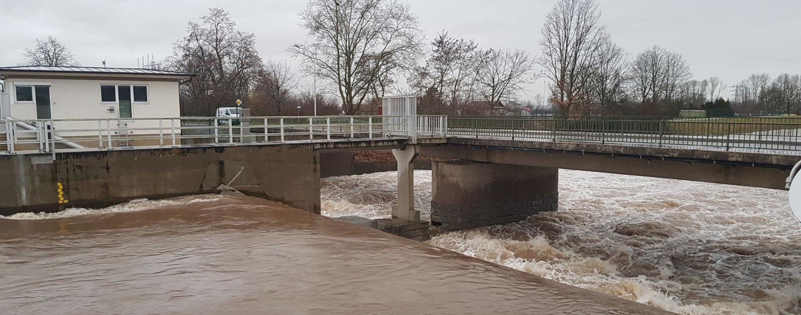 Hochwasser Kinzig Willstätt 2018