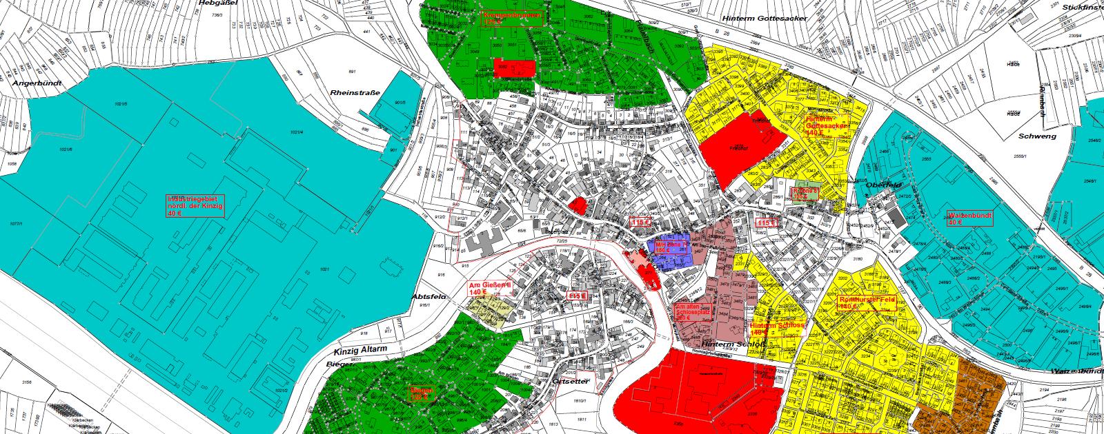 Bodenrichtwertkarte Willstätt