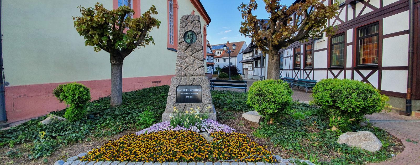 Moscherosch Denkmal in Willstätt