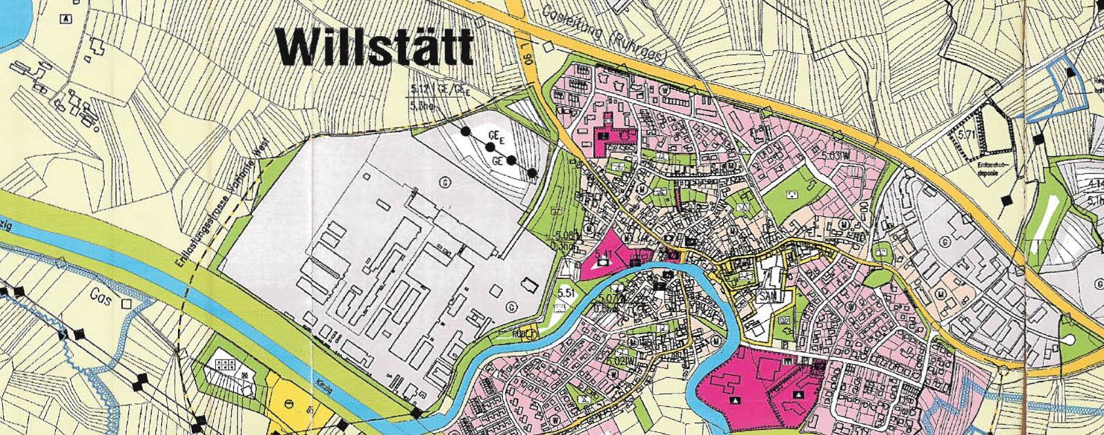 Auszug Flächennutzungsplan Gemeinde Willstätt