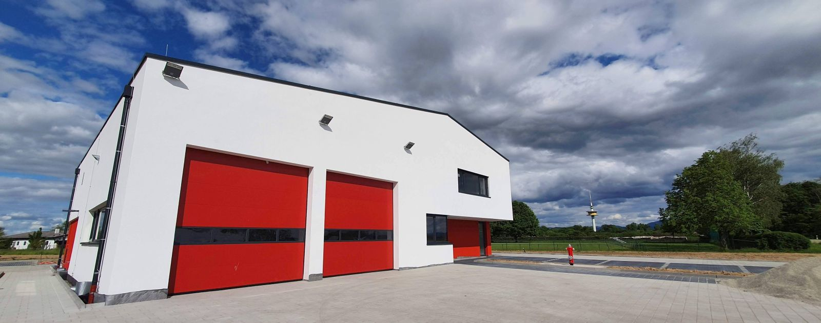 Feuerwehrhaus Legelshurst Neubau vor Fertigstellung