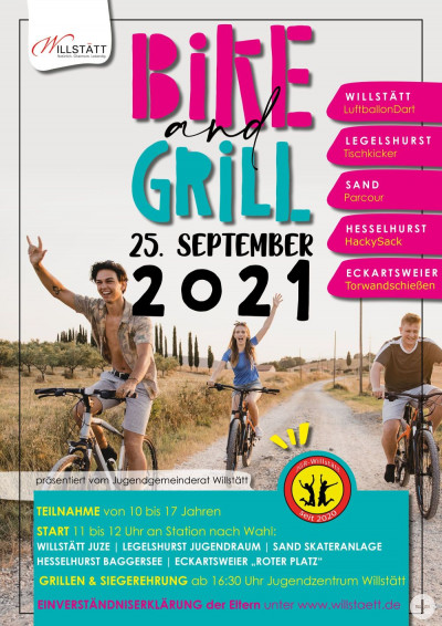 Plakat Bike and Grill